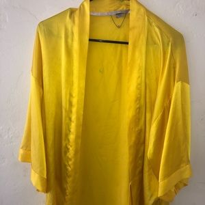 Victoria Secret yellow satin robe